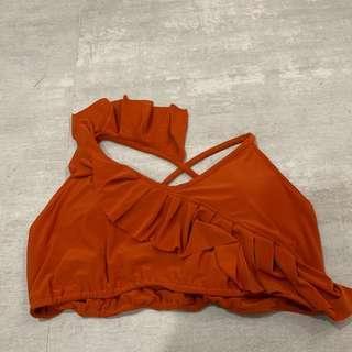 Orange Swimsuit Top