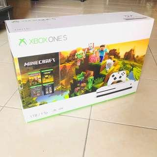 Xbox one s 1TB minecraft version new sealed
