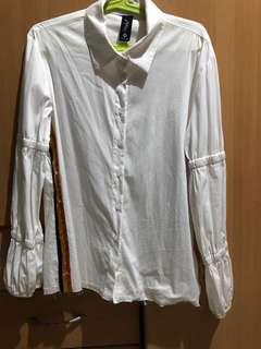 Zara-inspired polo blouse