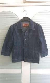 moving sales 牛仔外套 lady blue slim cut jacket