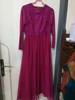 Long Dress — Magenta