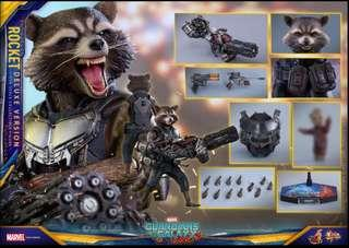 *BNIB* Hot toys MMS 411 Rocket Racoon Deluxe Vol 2 1/6 scale (not inflames toys enterbay) 火箭浣熊