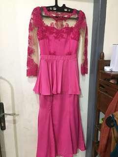 Long Dress — Fuschia