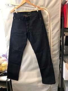 Club Monaco Dark Denim Made in USA 深藍色牛仔褲