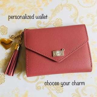 AVAILABLE personalized Wallet (choose from 60 charms)