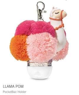Bath and Body Works Llama Pom Pocketbac Holder