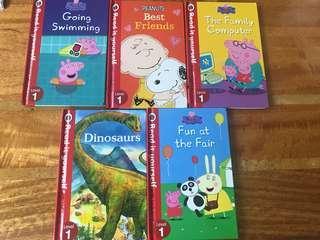 🚚 Read it yourself range - level: Peppa pig, Snoopy, dinosaur
