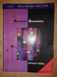 Analytic Geometry 6th Edition by Douglas F. Riddle