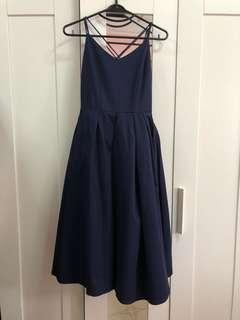 Navy Blue Intoxiquette Formal Dress