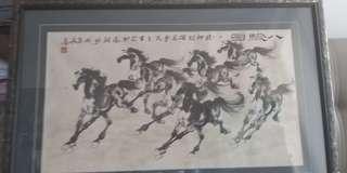 古董畫收藏 已放幾十年 後面有人名介紹 清屋平售