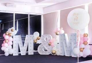 Marquee and Balloons
