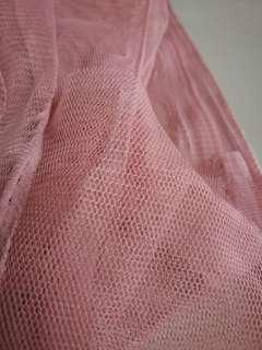 Dusty Pink Tulle Fabric 3m