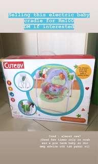 Electric baby cradle