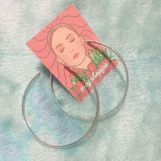 Silver hoop earrings (medium)