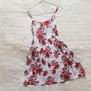 dress bunga2 flower h&m