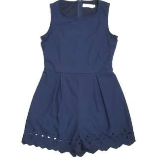 🚚 Navy Blue Romper by Missypixie #SpringCleanAndCarouSell50