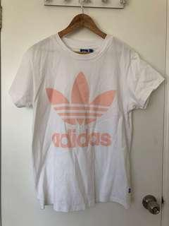 Adidas Originals White/Pink Big Trefoil T-shirt (8)