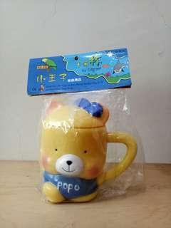 🚚 (出清品)POPO黃色小熊造型兒童漱口杯,全新