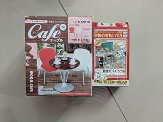 Miniature rement megahouse cafe table & chair
