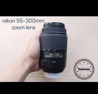 Nikon 55-300mm zoom lens original 2ndhand