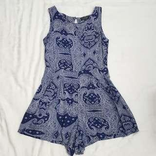 Cotton On Blue Paisley Summer Romper #SpringCleanAndCarouSell50