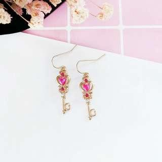 Sailor moon inspired key earrings
