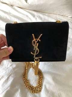ac17004c98 Authentic YSL Clutch Kate (small) in elegant black suede