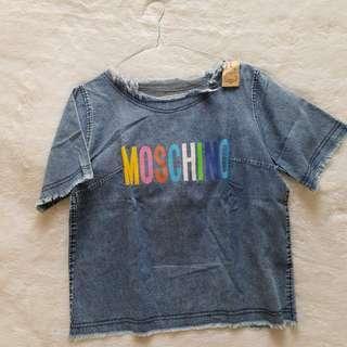 denim blouse tshirt moschino