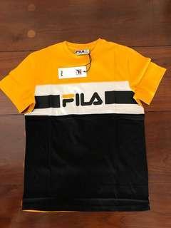 d9089a6e413 Fila Mick Tee Yellow Red Size S M