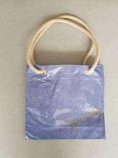 Tigerlily blue glittery beach bag