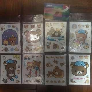 鬆弛熊 懶懶熊 雷射貼紙 8張