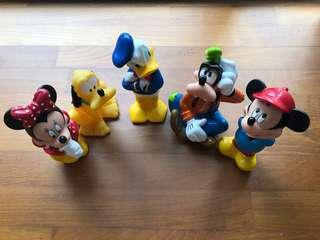 Disney Figures Mickey Minnie Donald Goofy Pluto