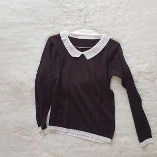 black collar sweater rajut