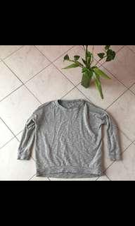 COS grey marle boxy sweat shirt