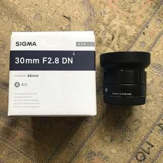Sigma 30mm 2.8 Art Sony mount