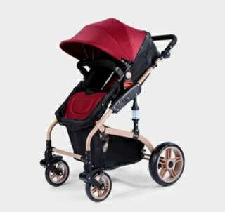 Luxury single stroller pram