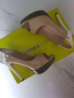 Versace Jeans peep toe heels