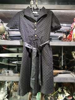 🚚 Black eyelet dress with black sash