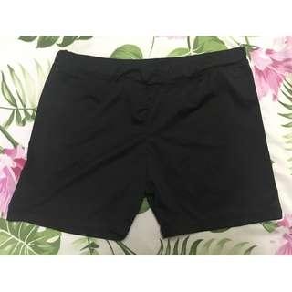 Small black cycling or swimming shorts