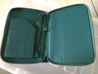 Starbucks 2019 Teal organizer only - card & notebook not included