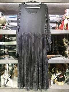 🚚 Black lace long sleeve dress