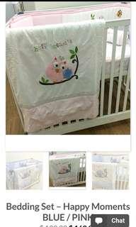 Happy Moment Crib Bedding Set