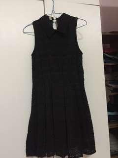 🚚 Black Lace Peterpan Collar Dress