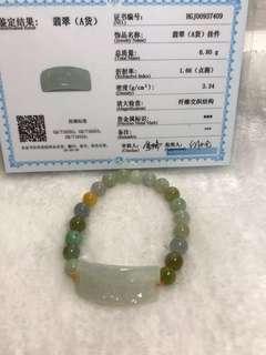 🚚 Natural Jadeite Myanmar Jade I Love You Bracelet 天然缅甸A货翡翠 I Love You 手链