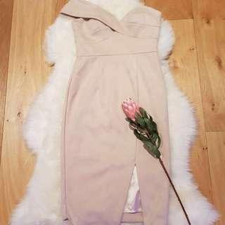 BNWT Sheike Juliet Nude Dress Size 6