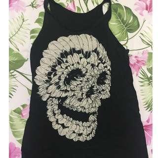 Skull from Featherw sleeveless top