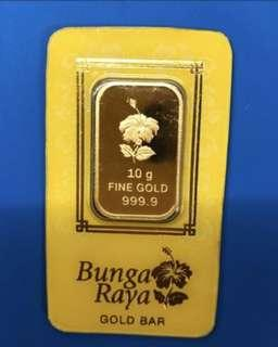 Grab this piece of 999 - Pure Gold - 10g bad ❤️❤️❤️