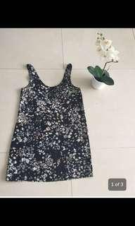 'A store' black dress with flower print