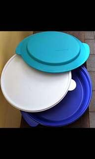 Microwaveable Tupperware Purple Blue