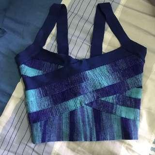 HL Style Ombre Blue Crop Top